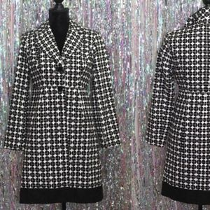Jackets & Blazers - Anthracite Black & White Cotton Trench Coat (6)